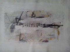 ohne Titel, Acryl auf Leinwand, 50 x 80 cm