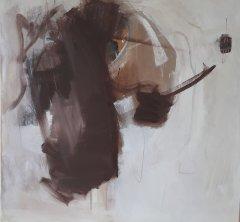 ohne Titel, Acryl auf Leinwand, 80 x 80 cm